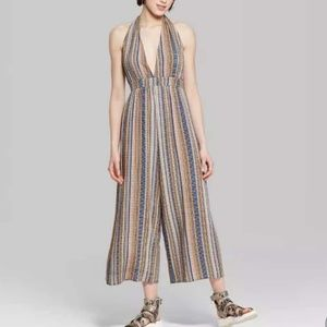 Wild Fable women's jumpsuit size M striped nwt